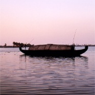 Indian boat on the river