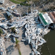 Boats piles after Hurricane