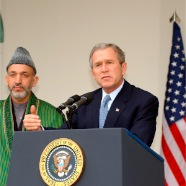 Afghanistan PM Hamid Karzai & Pers George Bush