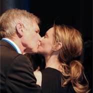 Harrison Ford kiss his wife Calista